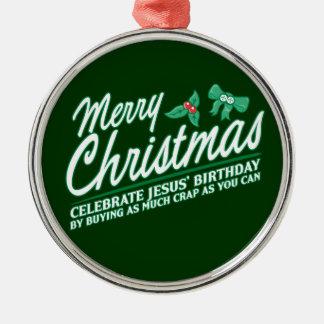 Joyeux Noël - célébrez l anniversaire de Jésus Ornement