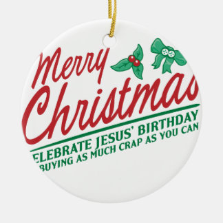 Joyeux Noël - célébrez l'anniversaire de Jésus Décoration De Noël