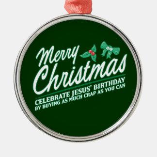 Joyeux Noël - célébrez l'anniversaire de Jésus Décoration Pour Sapin De Noël