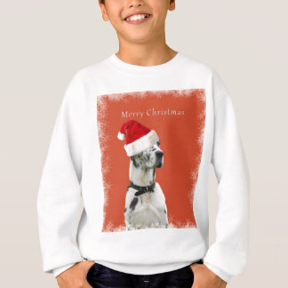 Joyeux Noël. Chien dalmatien dans un casquette de Sweatshirt