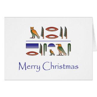 Joyeux Noël dans la carte égyptienne de