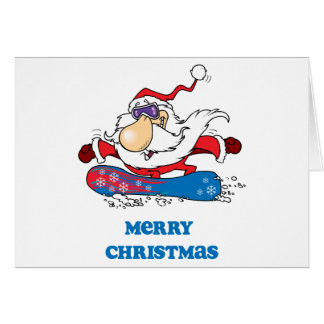 Joyeux Noël de BoardChick Père Noël Carte De Vœux