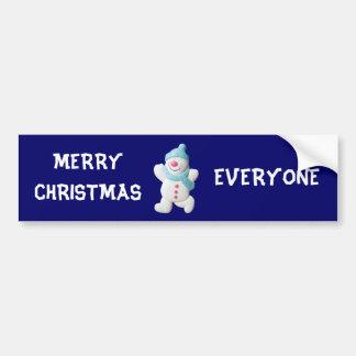 Joyeux Noël de bonhomme de neige heureux chacun fa Autocollant Pour Voiture