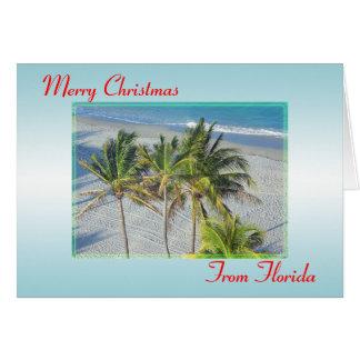 Joyeux Noël de carte de Noël de la Floride, plage