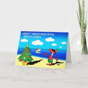 Carte Noel Australie.Joyeux Noel De Carte De Voeux De L Australie