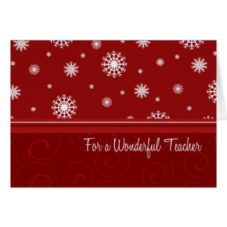 Joyeux Noël de flocons de neige pour la carte de