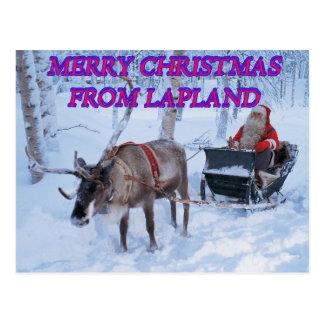 Joyeux Noël de Laponie Carte Postale