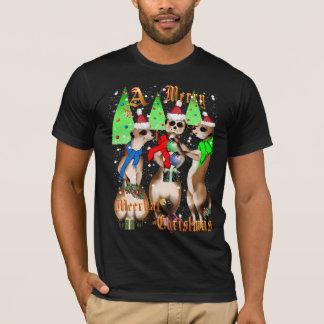 Joyeux Noël de Meerkat et chemises de neige T-shirt
