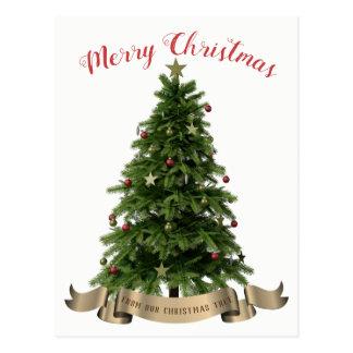 Joyeux Noël de notre carte postale d'arbre de Noël