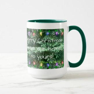 Joyeux Noël de notre maison au vôtre ! Tasse