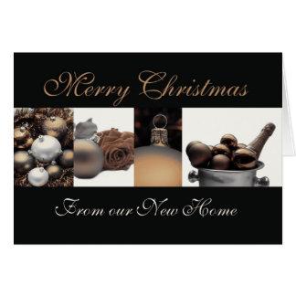 Joyeux Noël de nouveau faire-part à la maison