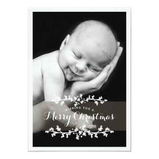 Joyeux Noël de photo chic sensible Carton D'invitation 12,7 Cm X 17,78 Cm