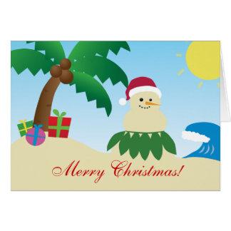 Joyeux Noël d'Hawaï ! (Mele Kalikimaka !) Carte De Vœux