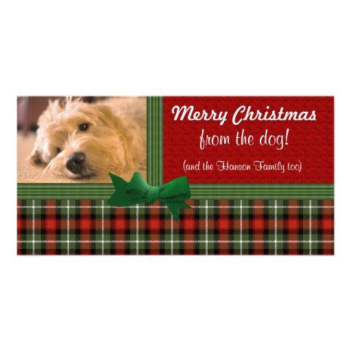"""""""Joyeux Noël du chien ! """" Photocarte Customisée"""