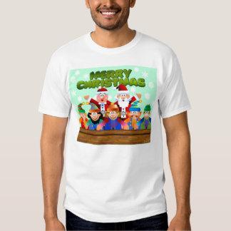 Joyeux Noël du père noël et des elfes T-shirts
