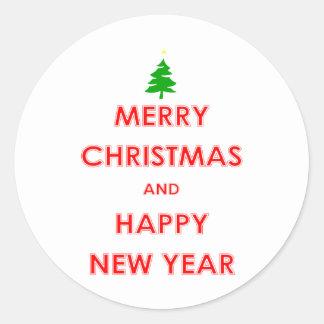 Joyeux Noël et bonne année Sticker Rond