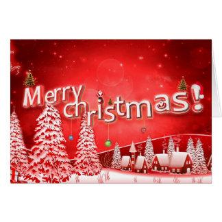 Joyeux Noël et bonne année Carte De Vœux