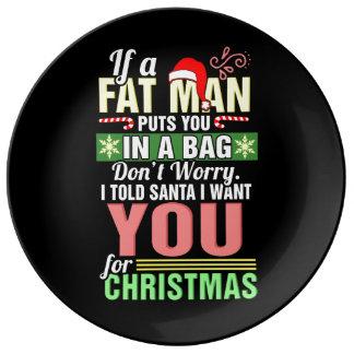 Joyeux Noël et père noël Assiette En Porcelaine
