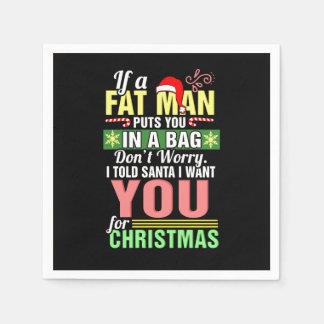 Joyeux Noël et père noël Serviette En Papier