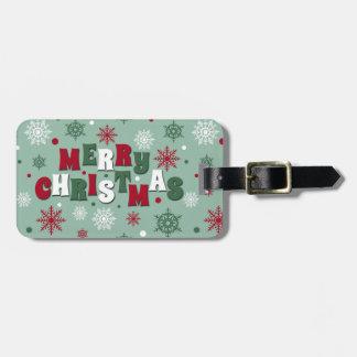 Joyeux Noël Étiquette À Bagage