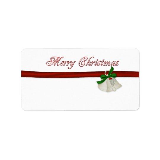 Joyeux Noël Étiquettes D'adresse