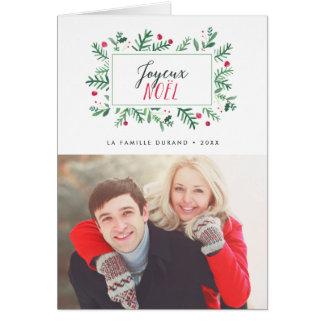 Joyeux Noël Feuillage Peint | Carte de Noël