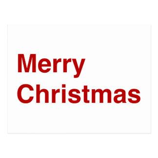 Joyeux Noël helvetica Carte Postale