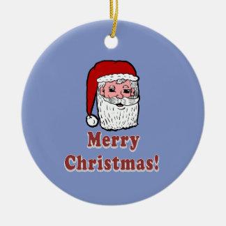 Joyeux Noël le père noël Ornement Rond En Céramique