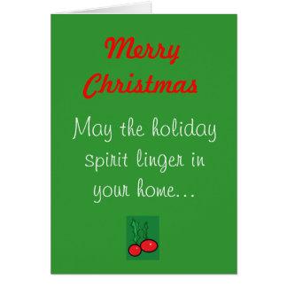 Joyeux Noël, mai le spiri de vacances… Cartes De Vœux