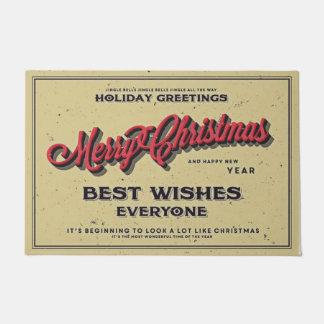 Joyeux Noël meilleurs voeux chacun Paillasson