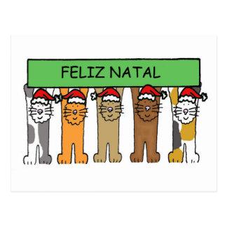 Joyeux Noël portugais Carte Postale