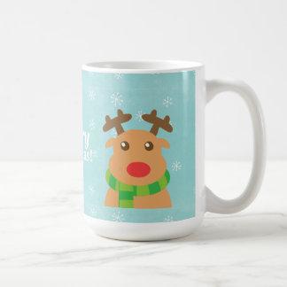 Joyeux Noël - renne mignon avec le nez rouge Mug
