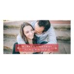 Joyeux Noël rouge classique Cartes De Vœux Avec Photo