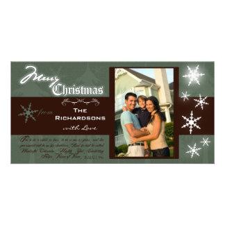 Joyeux Noël traditionnel personnalisable Photocard Photocarte