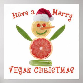 Joyeux Noël végétalien Affiche