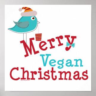 Joyeux Noël végétalien Affiches