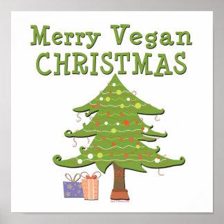 Joyeux Noël végétalien Posters