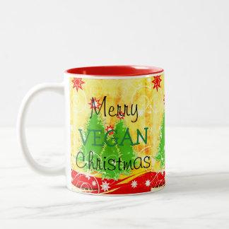 Joyeux Noël végétalien, tasse de Noël pour le
