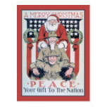 Joyeux Noël vintage et paix Cartes Postales