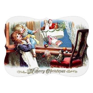 Joyeux Noël vintage Invitation Personnalisée