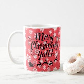 Joyeux Noël vous silhouettez la tasse de flocons