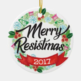 Joyeux ornement de vacances de Resistmas