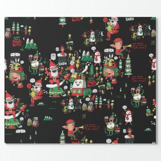 Joyeux papier d'emballage de Noël HO-HO-HO ! Papier Cadeau