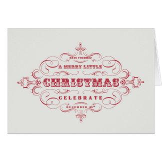 Joyeux petit carte pour notes vintage de Noël de