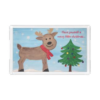 Joyeux petit plateau de renne de Noël