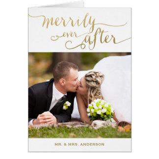 Joyeux pour toujours carte photo marié de vacances