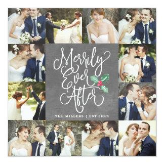 Joyeux pour toujours épouser le carte photo des