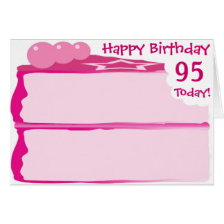 Joyeux quatre-vingt-quinzième anniversaire cartes