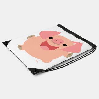 Joyeux sac à dos mignon de cordon de porc de bande