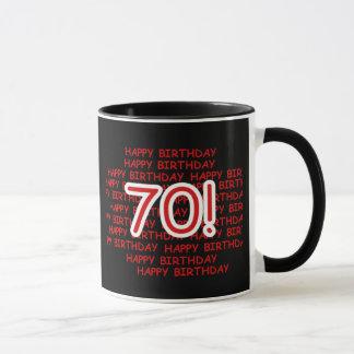 Joyeux soixante-dixième anniversaire mugs